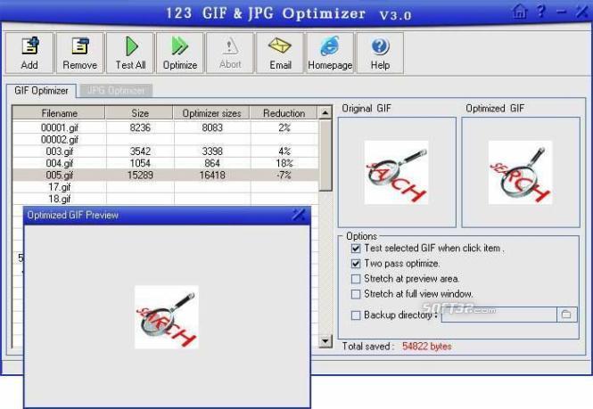 123 GIF/JPG Optimizer Screenshot 3