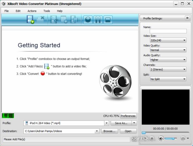 Xilisoft Video Converter Platinum Screenshot 4