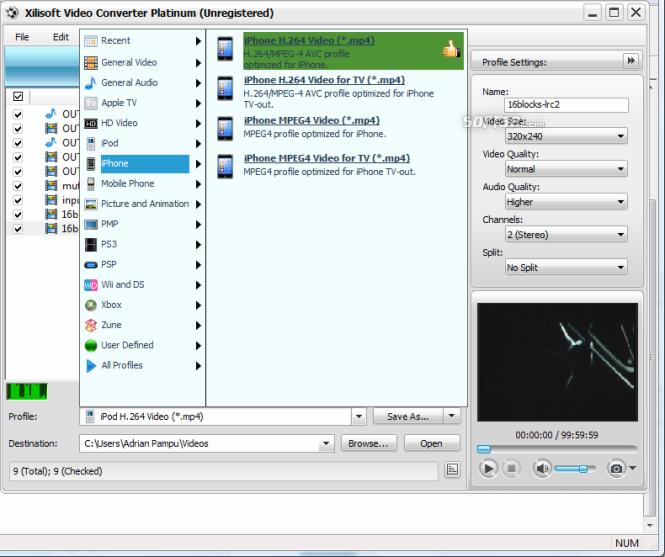Xilisoft Video Converter Platinum Screenshot 5