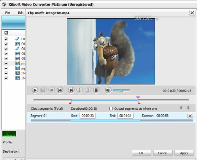 Xilisoft Video Converter Platinum Screenshot 6