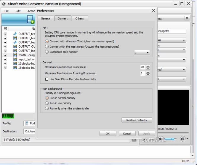 Xilisoft Video Converter Platinum Screenshot 7