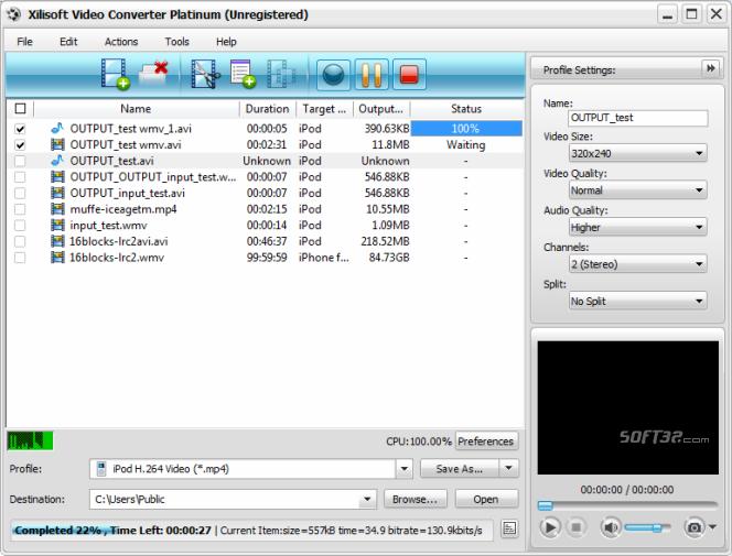 Xilisoft Video Converter Platinum Screenshot 8