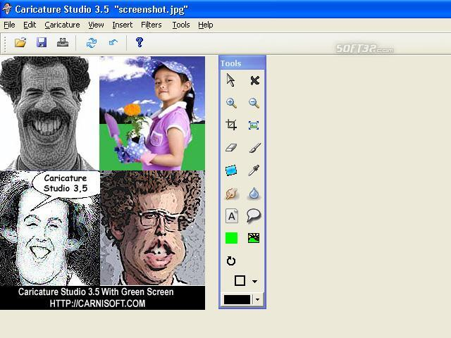 Caricature Studio Green Screenshot 3