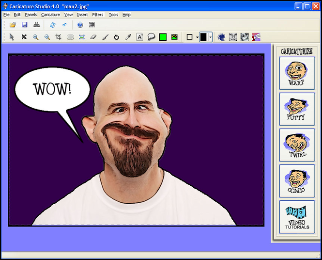 Caricature Studio Green Screenshot