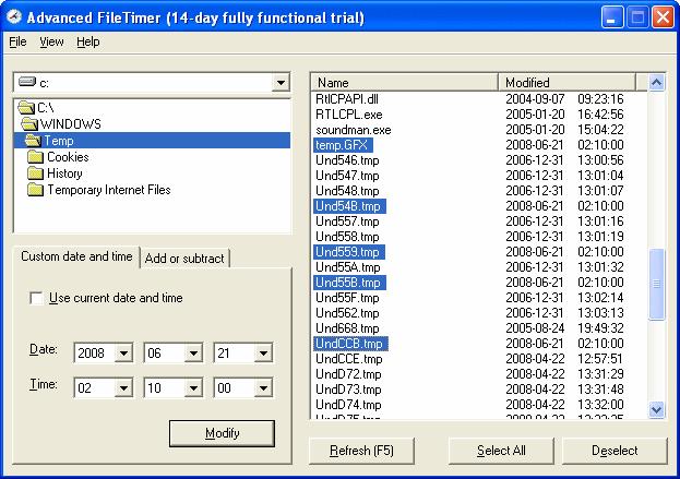 Advanced FileTimer Screenshot