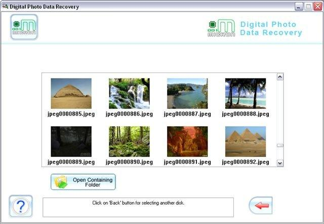Picture Recovery Software Screenshot