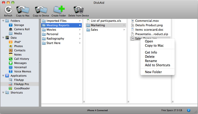 DiskAid Screenshot