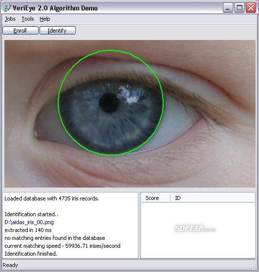 VeriEye Algorithm Demo (For Windows) Screenshot 2