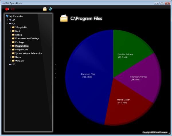 Disk Space Finder Screenshot