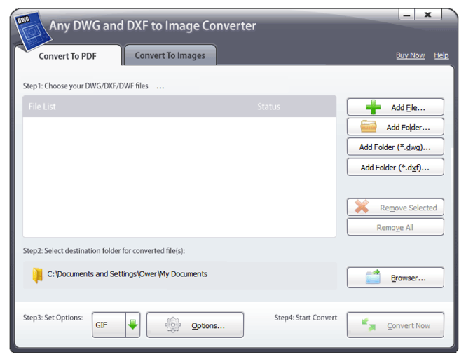 Any DWG and DXF to Image Converter 2009 Screenshot