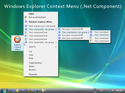 Windows Explorer Context Menu (.Net Component) Screenshot 1