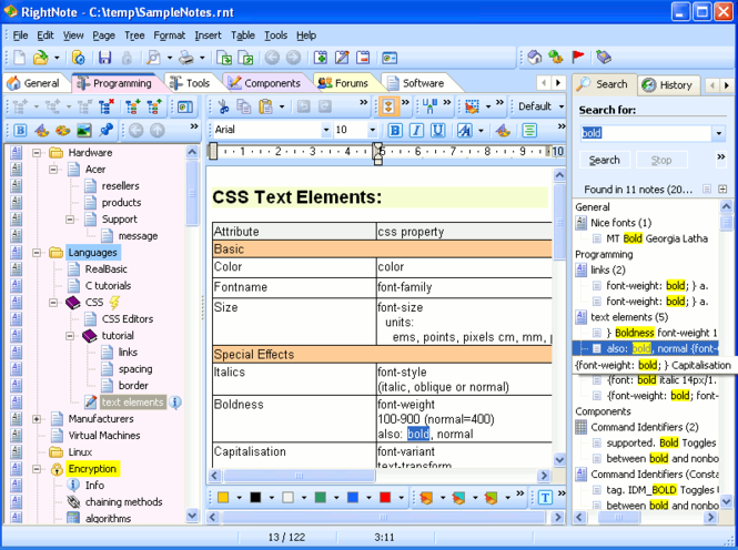 RightNote Screenshot