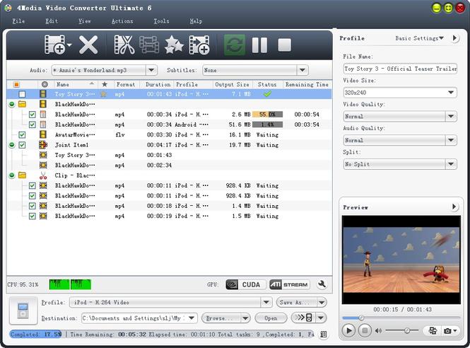 4Media Video Converter Ultimate Screenshot 1