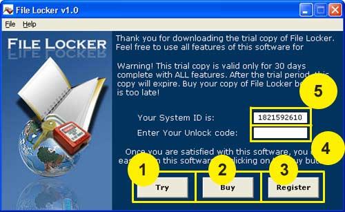 File Locker Screenshot