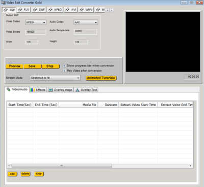 VISCOM Video Edit 3GP,FLV MP4 Converter Gold Screenshot