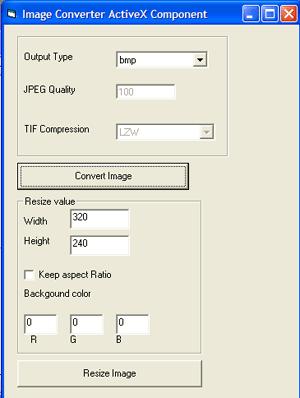 MainMedia Image Converter ActiveX Component Screenshot
