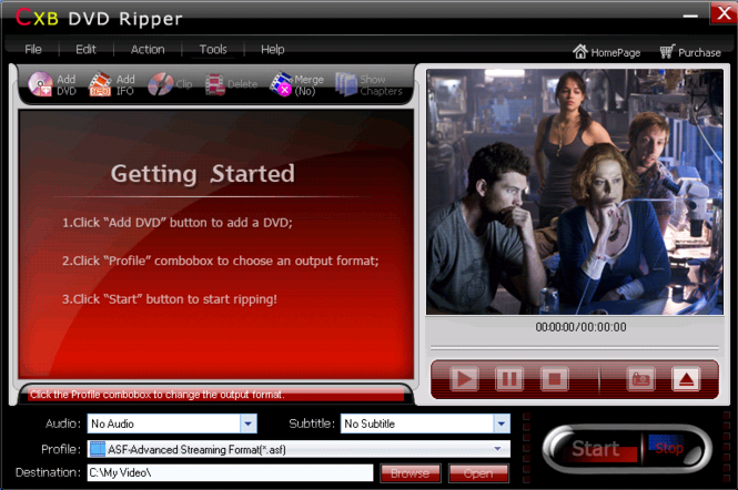 CXBSoft DVD Ripper Screenshot