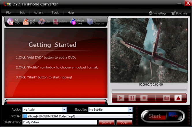 CXBSoft DVD To iPhone Converter Screenshot 1
