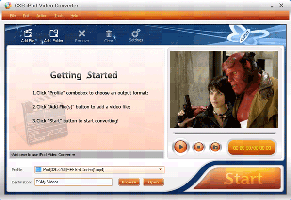 CXBSoft iPod Video Converter Screenshot