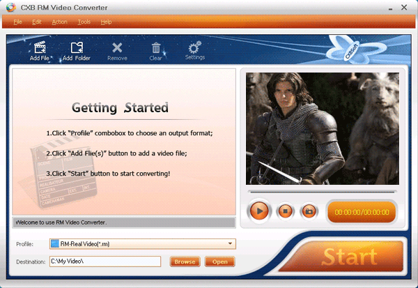 CXBSoft RM Video Converter Screenshot