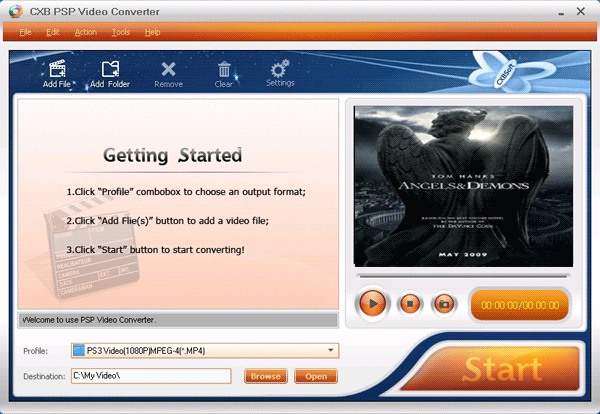 CXBSoft PSP Video Converter Screenshot