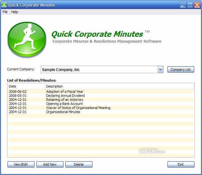 Quick Corporate Minutes Screenshot 2