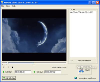 AimOne 3GP Cutter & Joiner Screenshot 2
