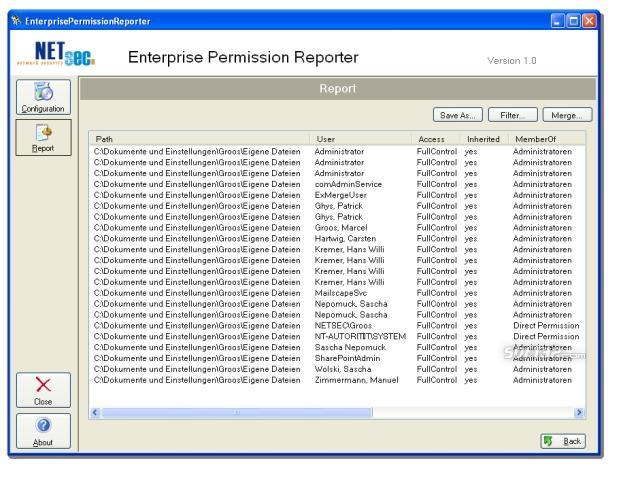 Enterprise Permission Reporter Screenshot 3