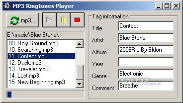 MP3 Ringtones Player Screenshot