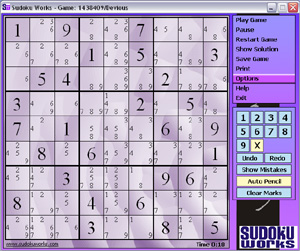 SudokuWorks Screenshot