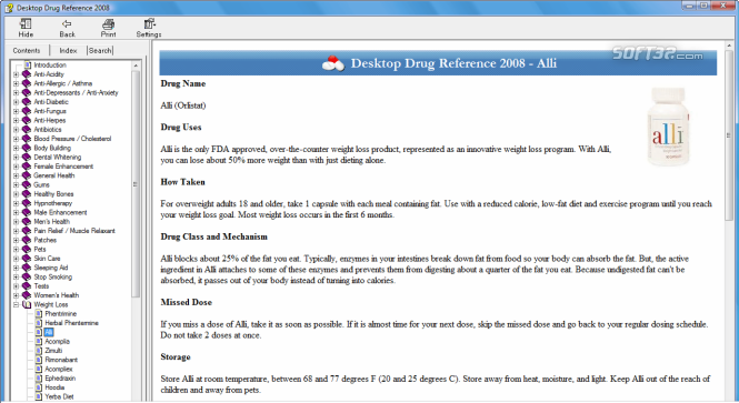 Desktop Drug Reference Screenshot 2