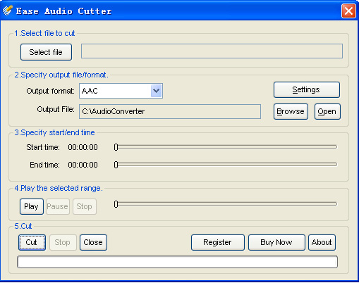 Ease Audio Cutter Screenshot 1