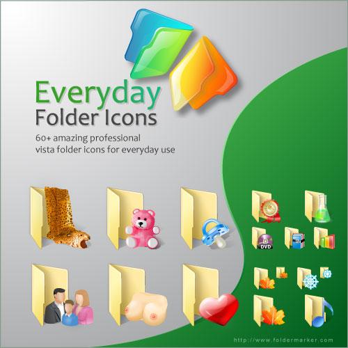 Everyday Folder Icons for Vista Screenshot 1