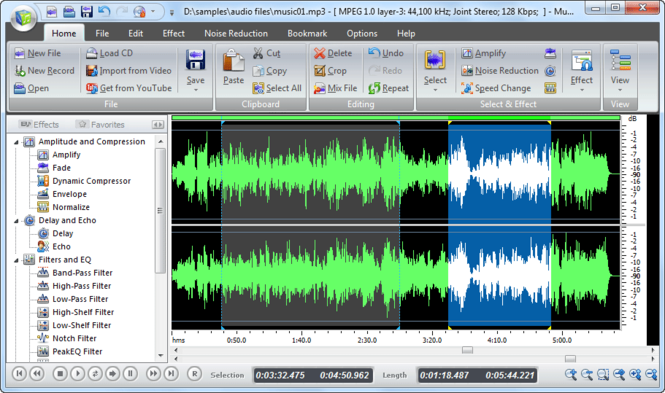 Music Editor Free 2012 Screenshot 1