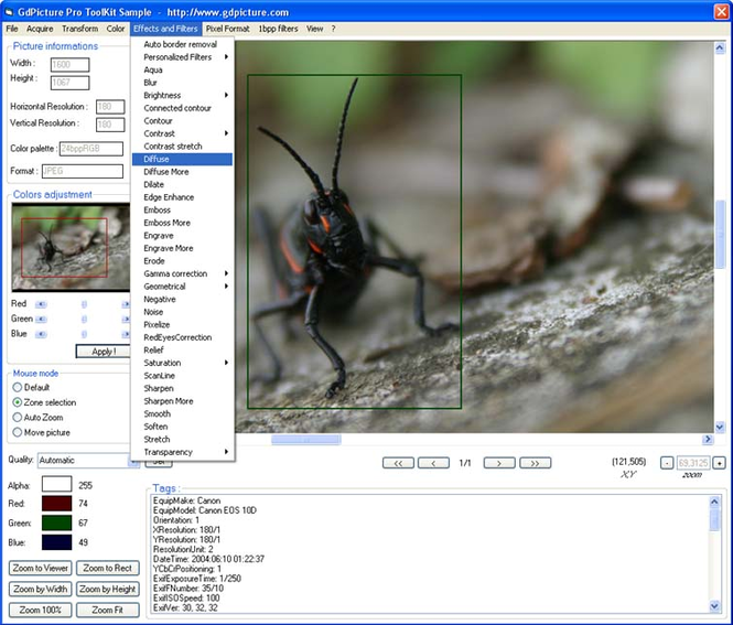 GdPicture Light Imaging Toolkit Site ed. Screenshot