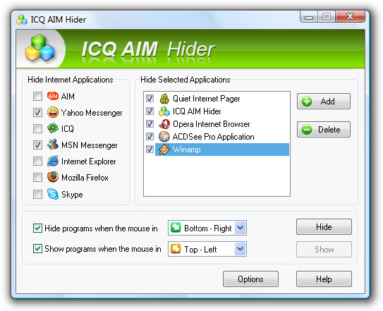 ICQ AIM Hider Screenshot