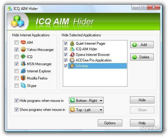 ICQ AIM Hider Screenshot 2