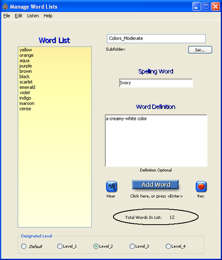 Spelling Depot Screenshot 1