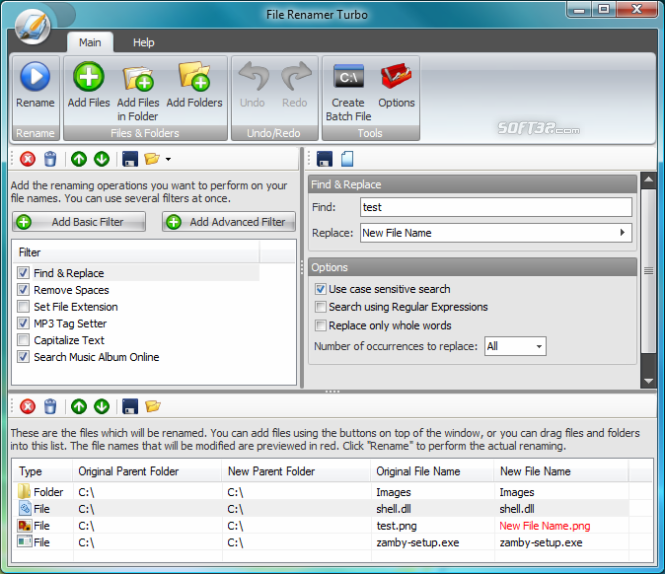 File Renamer Turbo Screenshot 3