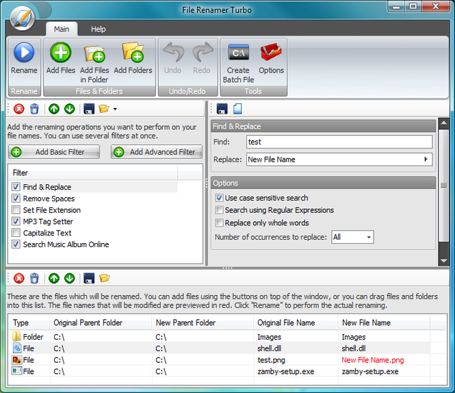 File Renamer Turbo Screenshot 1