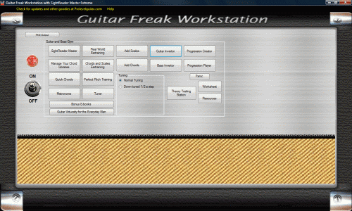 Guitar Freak Workstation and SightReader Screenshot