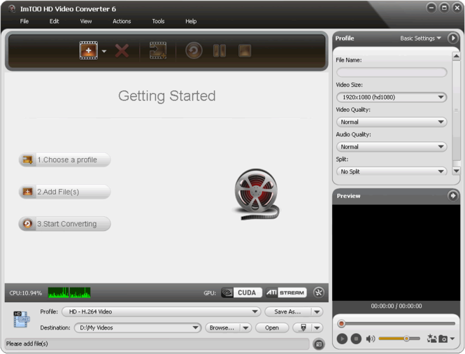 ImTOO HD Video Converter Screenshot 1