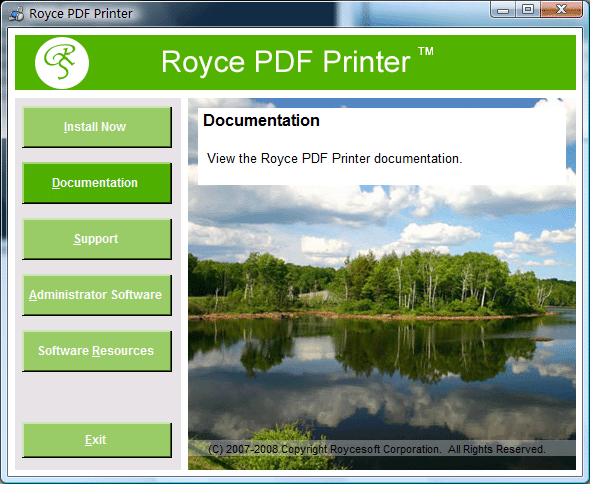 Royce PDF Printer Screenshot