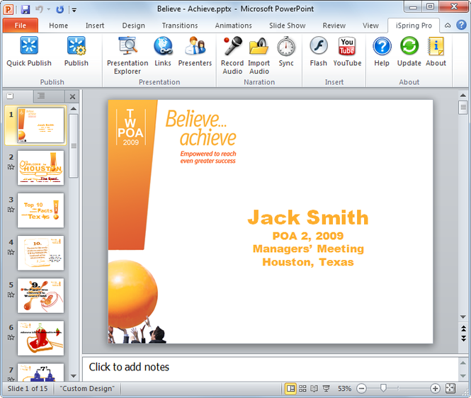 iSpring Pro PowerPoint to Flash Converter Screenshot