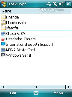 LockCrypt for Windows Mobile Screenshot 2
