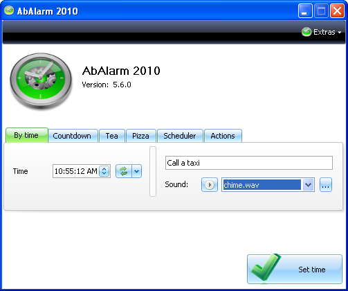 AbAlarm 2010 Screenshot
