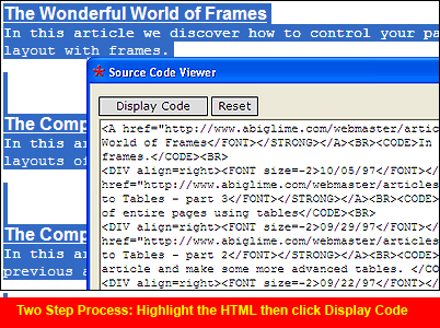 Source Code Viewer Screenshot