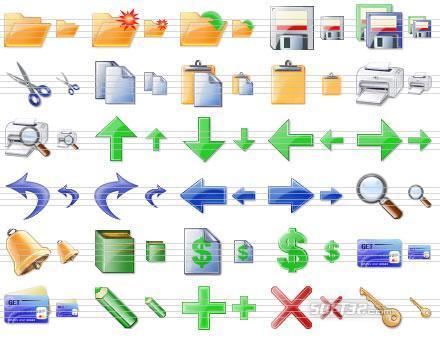 Plastic Toolbar Icons Screenshot 2