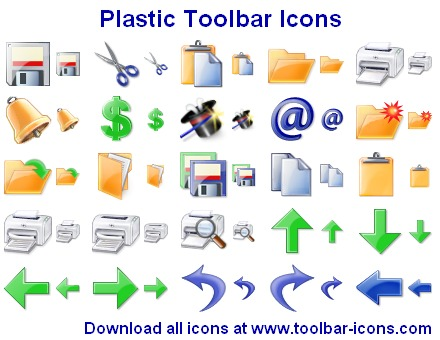 Plastic Toolbar Icons Screenshot 1
