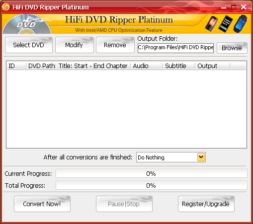 HiFi DVD Ripper Screenshot